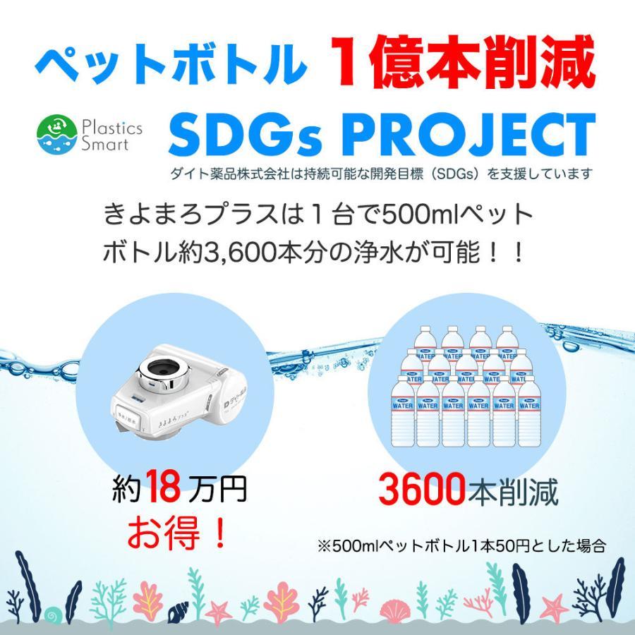 浄水器 国産 1家庭1台限り お試し きよまろプラス 塩素除去 送料無料|daito|19