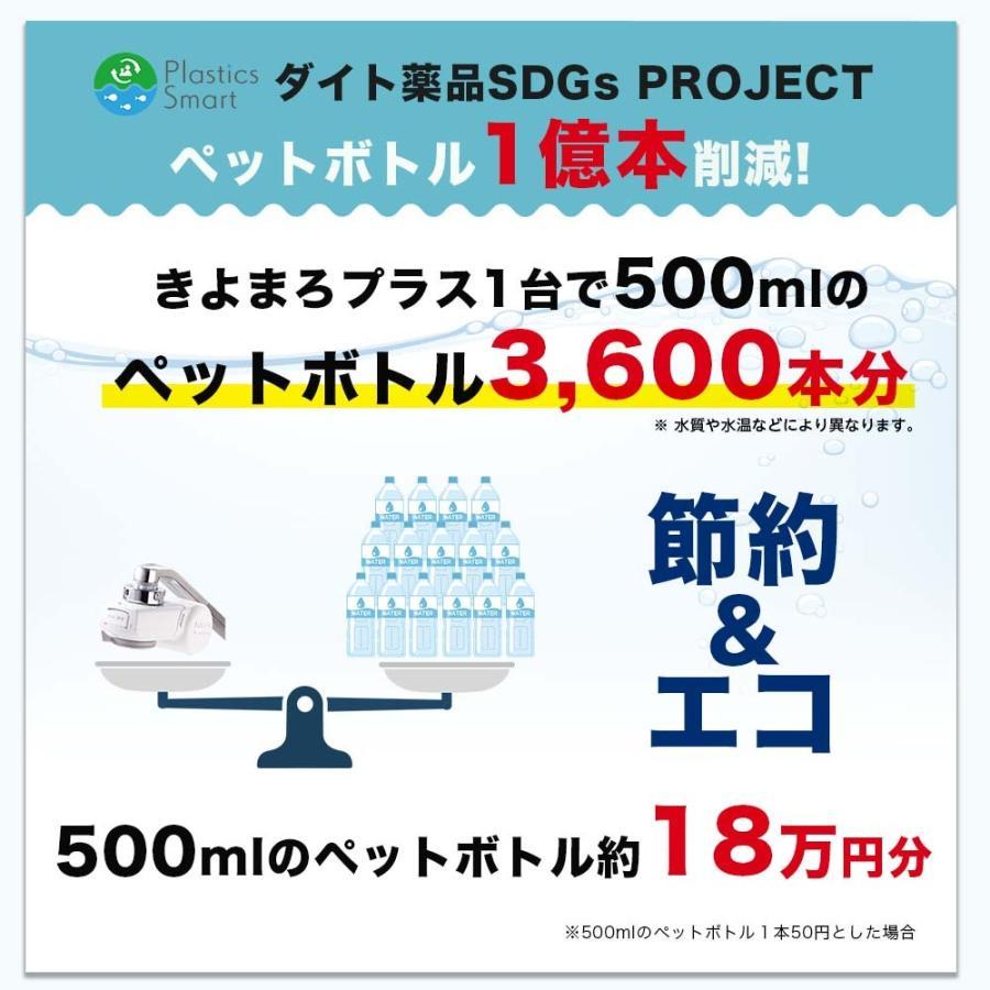 【送料無料】 お試し 1家庭1台限り 医薬品を扱う会社が考えた国産浄水器きよまろプラス 塩素除去 浄水|daito|15