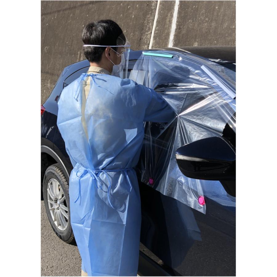 発熱外来・ドライブスルー方式 PCR検査用 ビニール製 長手袋 50枚 daitobiso 05