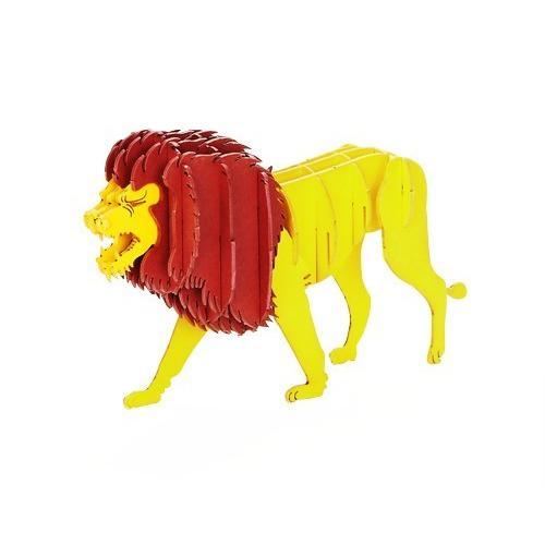 立体 ペーパークラフト ウラノ 3Dペーパーパズル ライオン (送料無料・小型便にて配送)|dambool-crafts