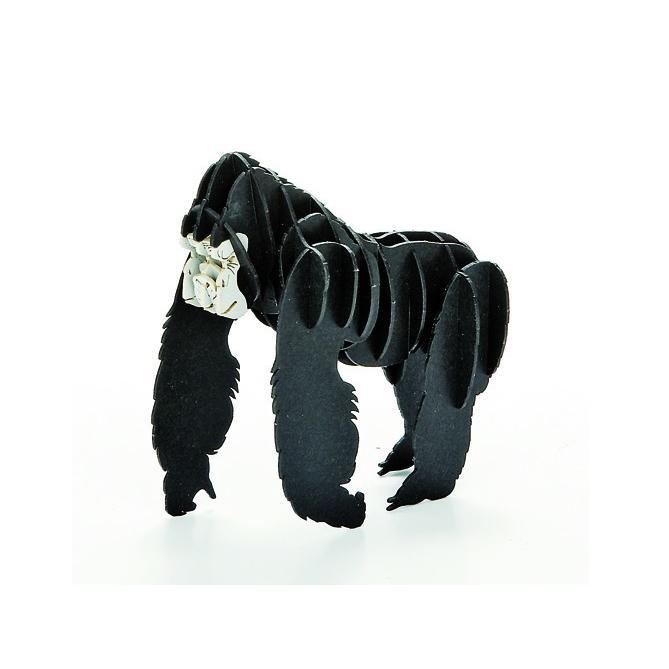 立体 ペーパークラフト ウラノ 3Dペーパーパズル ゴリラ (送料無料・小型便にて配送) dambool-crafts