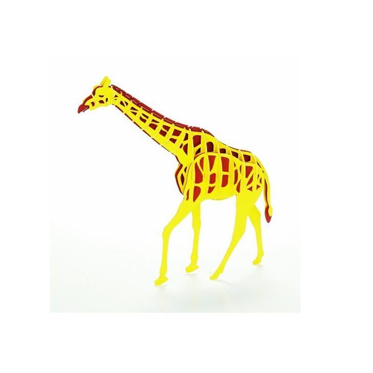 立体 ペーパークラフト ウラノ 3Dペーパーパズル キリン  (送料無料・小型便にて配送)|dambool-crafts