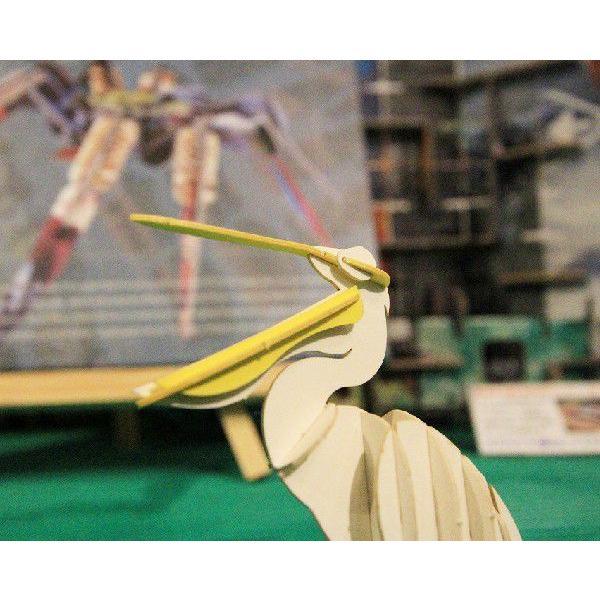 立体 ペーパークラフト ウラノ 3Dペーパーパズル ペリカン (送料¥300 小型便配送可)|dambool-crafts|02
