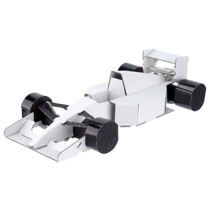 ダンボール 工作 キット  ハコモ  hacomo  のりものシリーズ  フォーミュラーカー(送料無料・小型便にて配送) dambool-crafts