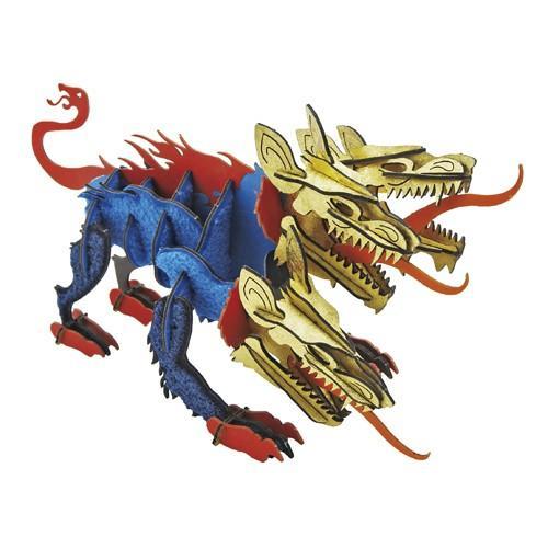 立体 ペーパークラフト ウラノ 3Dペーパーパズル パズル ケルベロス (送料無料・小型便にて配送)|dambool-crafts