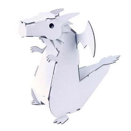 ダンボール  工作 キット クラフト ハコモ hacomo kids ドラゴン(送料無料・小型便にて配送) dambool-crafts