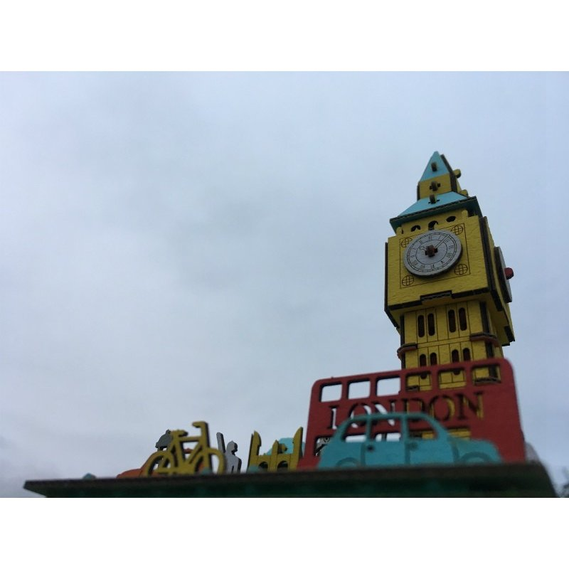 立体 ペーパークラフト ダンボール パズル ハコモ プスプス hacomo pusupusu ビッグベン (送料無料・小型便にて配送)|dambool-crafts|05