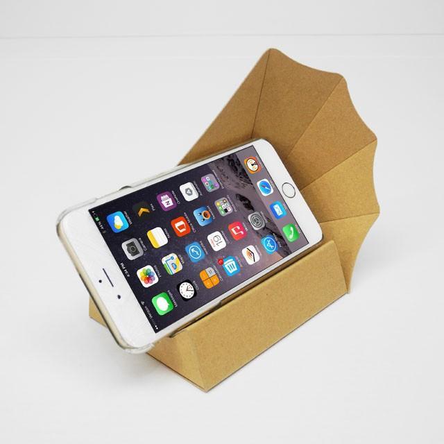 スマートフォン アンドロイド Iphone スピーカー ペーパークラフト スマホ用横置きスピーカー スマホーン (送料無料・小型便にて配送)|dambool-crafts