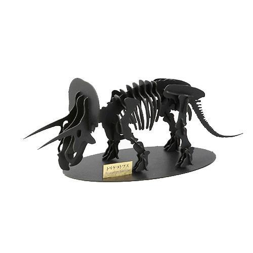 立体 ペーパークラフト ウラノ 恐竜 3Dペーパーパズル トリケラトプス (Lサイズ)(送料無料・小型便にて配送)|dambool-crafts