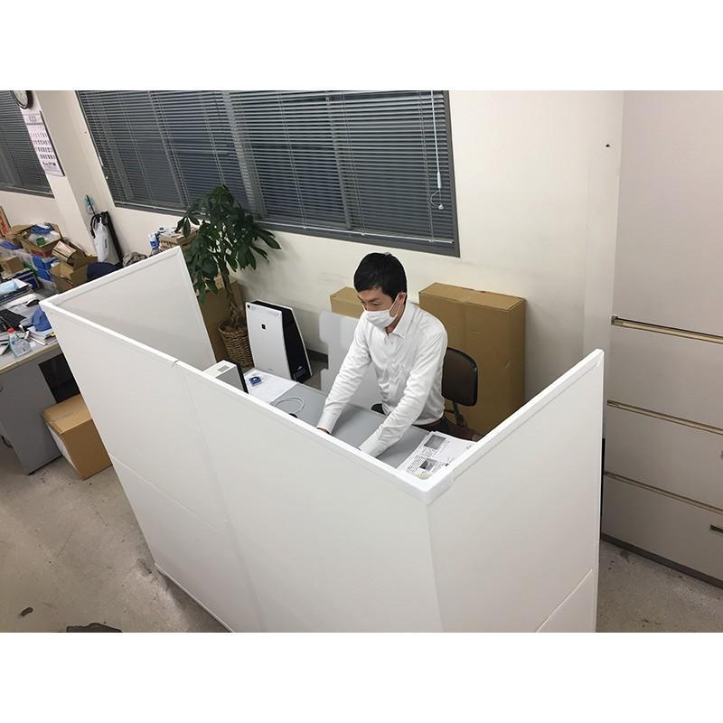 パーテーション Zoom 背景 テレワーク リモートワーク 個室 フロアー用 1ケース(1セット 2枚入り) オフィス ウイルス 対策 シキリダナ|danbolu-honpo|11