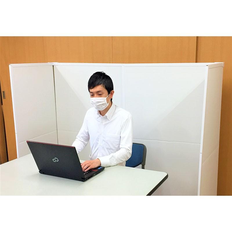 パーテーション Zoom 背景 テレワーク リモートワーク 個室 フロアー用 1ケース(1セット 2枚入り) オフィス ウイルス 対策 シキリダナ|danbolu-honpo|14
