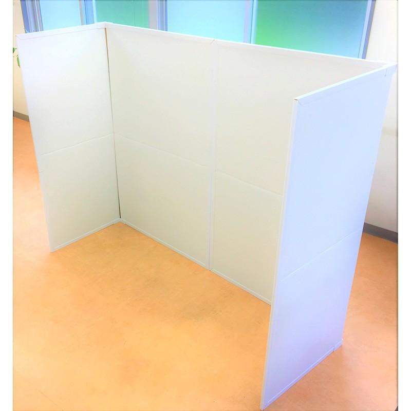 パーテーション Zoom 背景 テレワーク リモートワーク 個室 フロアー用 1ケース(1セット 2枚入り) オフィス ウイルス 対策 シキリダナ|danbolu-honpo|03