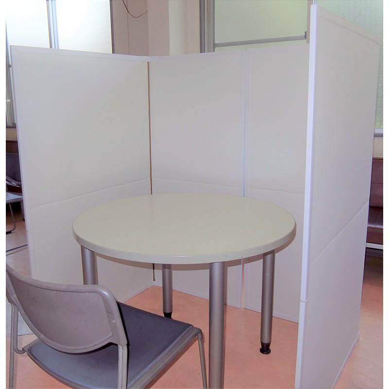 パーテーション Zoom 背景 テレワーク リモートワーク 個室 フロアー用 1ケース(1セット 2枚入り) オフィス ウイルス 対策 シキリダナ|danbolu-honpo|06