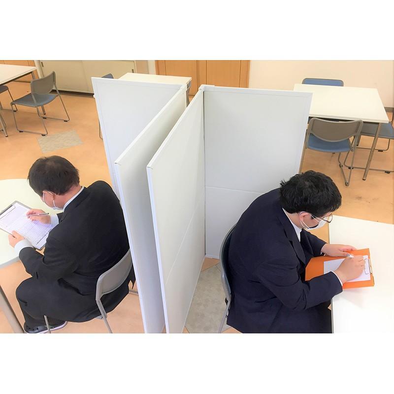 パーテーション Zoom 背景 テレワーク リモートワーク 個室 フロアー用 1ケース(1セット 2枚入り) オフィス ウイルス 対策 シキリダナ|danbolu-honpo|07