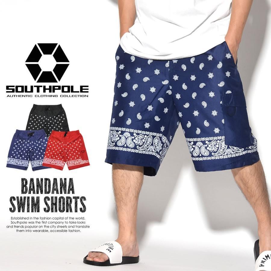 サウスポール SOUTHPOLE ボードショーツ メンズ 水着 サーフパンツ スイムショーツ ペイズリー柄 水陸両用 大きいサイズ B系 ヒップホップ ファッション