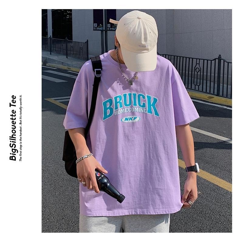 Tシャツ メンズ 半袖 オーバーサイズ ビッグシルエット カレッジロゴプリント ブランド おしゃれ 韓国 ファッション ストリート系 服 夏|dance3|09