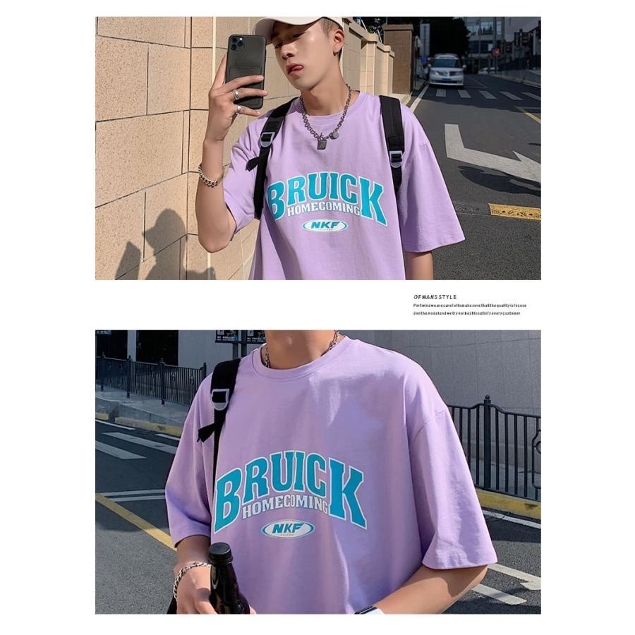 Tシャツ メンズ 半袖 オーバーサイズ ビッグシルエット カレッジロゴプリント ブランド おしゃれ 韓国 ファッション ストリート系 服 夏|dance3|10