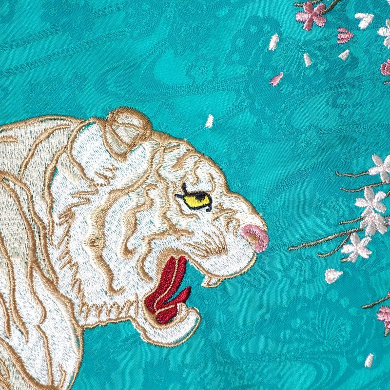 月に白虎刺繍ジャガードシャツ  LS-002 花旅楽団 和柄 dandara 06