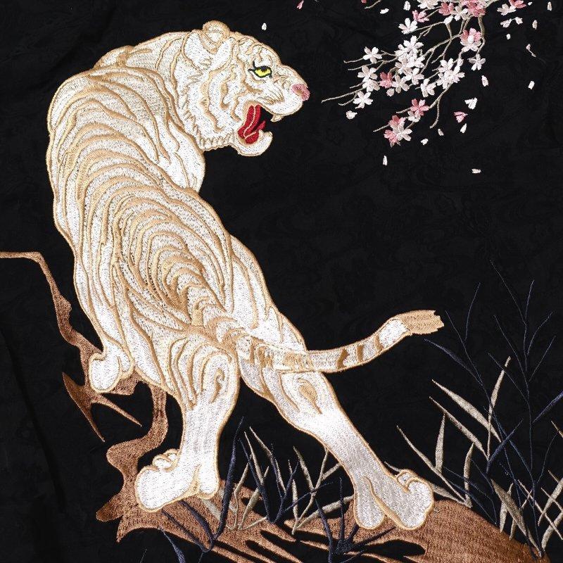 月に白虎刺繍ジャガードシャツ  LS-002 花旅楽団 和柄 dandara 07