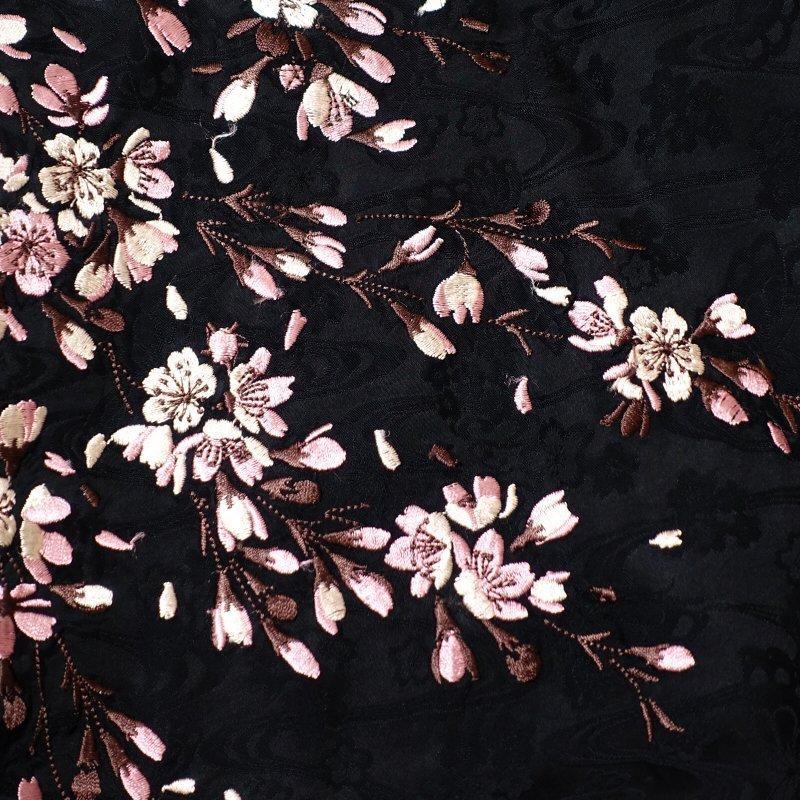 桜刺繍ジャガードシャツ  LS-003 花旅楽団 和柄|dandara|08