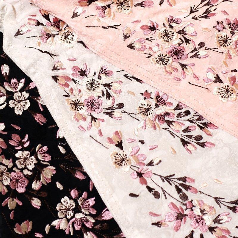 桜刺繍ジャガードシャツ  LS-003 花旅楽団 和柄|dandara|09
