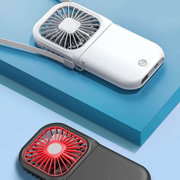 折り畳み式 ハンディファン モバイルバッテリー 首かけ ポータブル扇風機 静音 卓上扇風機 ポータブルミニファン ハンディーファン|dandsshop|16