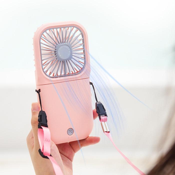 折り畳み式 ハンディファン モバイルバッテリー 首かけ ポータブル扇風機 静音 卓上扇風機 ポータブルミニファン ハンディーファン|dandsshop|17