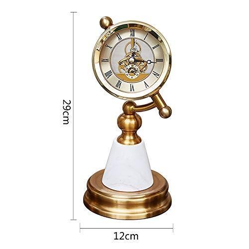 MEI GUI デスククロック - 創造的なモデルルームの高級レトロ時計時計時計目覚まし時計の装飾北欧スタイルの装飾寝室 (色 : 白, サイズ