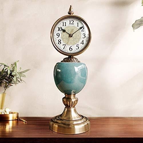 Chenglian マンテル時計ヨーロッパレトロ時計リビングルーム大アメリカンデスクトップ時計デスクトップ時計クリエイティブ置時計座って時計装飾品