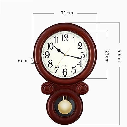 ホーム&時計 壁掛け時計電池式非刻印装飾数字振り子リビングルームの装飾サイレントヴィンテージヨーロッパレトロクォーツアナログ目覚まし時計