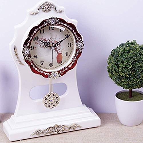 Chuangshengnet 時計台/寝室ヨーロッパのファッション置時計飾り (Color : B)