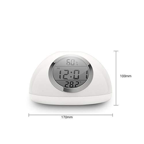 LED 目覚まし時計 ウェイク アップ ライ ト7色ベッド サイドウェイクアップ ライト LED自然音