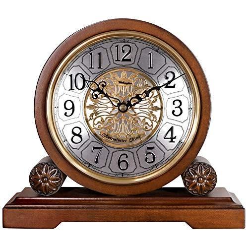 置き時計, 居間の装飾の寝室のヴィンテージのヨーロッパのレトロの机上時計の電池式の非刻々とした無声装飾的な水晶,デスククロック