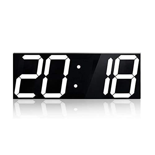 ジャンボウォールクロックLEDデジタル多機能リモコンカウントダウンタイマー温度計、大型カレンダー、分の目覚まし時計、カウントダウンLEDクロック、ビッ