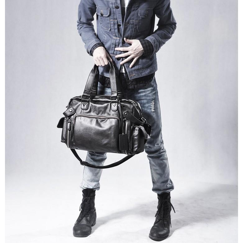 ボストンバッグ トートバッグ ショルダーバッグ メンズ 本革 革 かばん 鞄 ボストン バッグ レザーバッグ レザー レザー 牛革  トート ブラック 送料無料 darcy 02