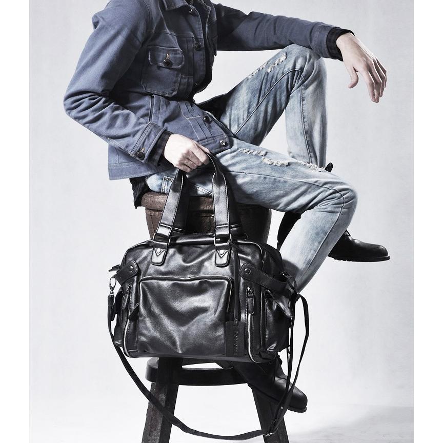 ボストンバッグ トートバッグ ショルダーバッグ メンズ 本革 革 かばん 鞄 ボストン バッグ レザーバッグ レザー レザー 牛革  トート ブラック 送料無料 darcy 03