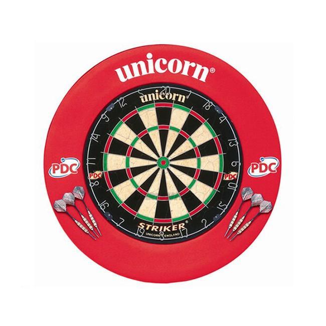 <46122> unicorn Striker Board and Surround <赤>【ダーツ ダーツボード ダーツセット ダーツゲーム