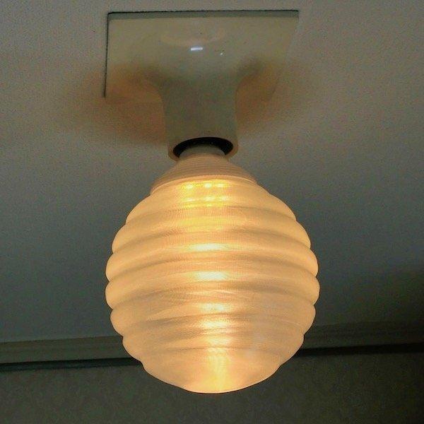 3Dデザイン電球 種類 Stretch 40W相当 サイズ12cm おしゃれに きらめき輝く 電球色 昼白色 裸電球 口金E26 大きい 大形 大型ボール球型LED電球|dasyn|12