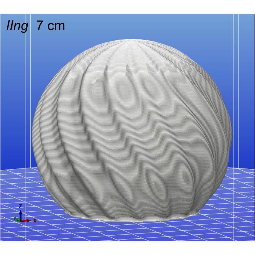 3Dデザイン電球 種類 IIng 40W相当 サイズ10cm おしゃれに きらめき輝く 電球色 昼白色 裸電球 口金E26 大きい 大形 大型ボール球型LED電球 dasyn 11