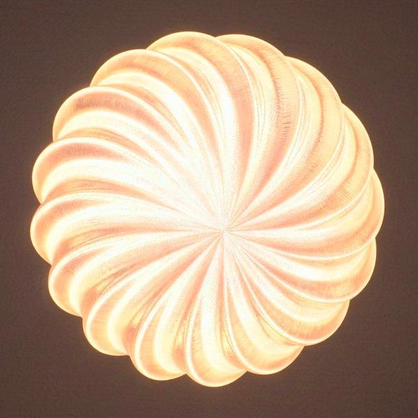 3Dデザイン電球 種類 IIng 40W相当 サイズ18cm おしゃれに きらめき輝く 電球色 昼白色 裸電球 口金E26 大きい 大形 大型ボール球型LED電球|dasyn|06