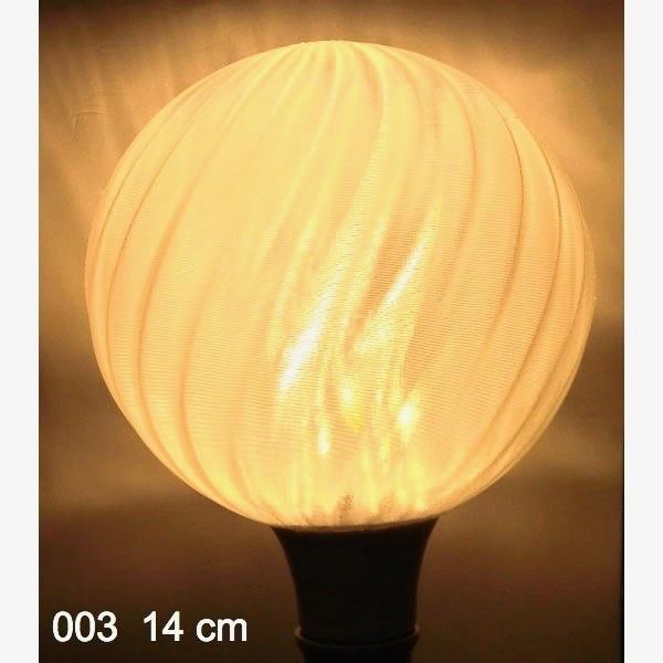 3Dデザイン電球セミオーダー お好きなサイズと模様が選べる! おしゃれに きらめく 大型ボール球型LED電球 天井直付けに! 30〜60W相当 直径9〜18cm 4〜15W E26|dasyn|18