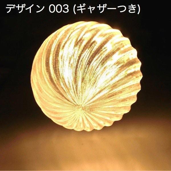3Dデザイン電球セミオーダー お好きなサイズと模様が選べる! おしゃれに きらめく 大型ボール球型LED電球 天井直付けに! 30〜60W相当 直径9〜18cm 4〜15W E26|dasyn|05