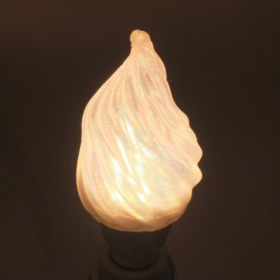 3Dデザイン電球 シャンデリア球型 炎のようにゆらぐ形 ホットな燃える炎型 おしゃれにきらめく LED 電球 白熱灯20W-40W相当 電球色 昼白色 口金 E26 E17|dasyn|09