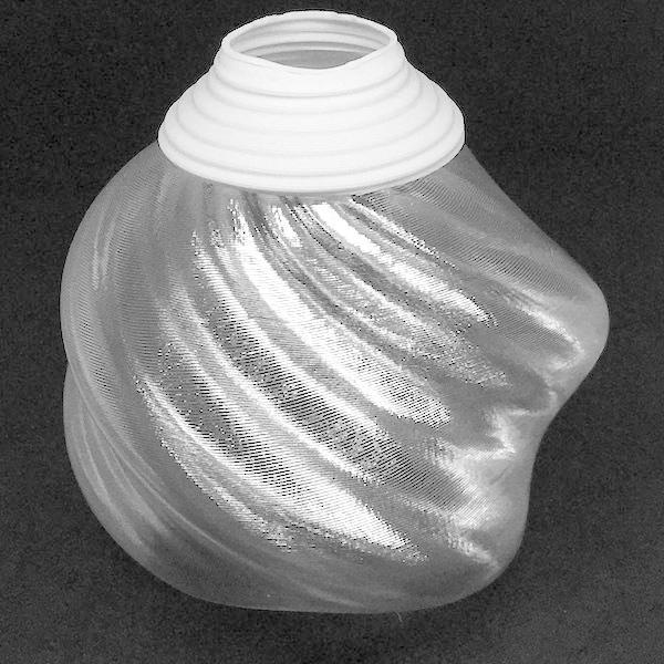 透明な LED電球カバー シェードのみ 捻り模様の傘 直径10cm 裸電球にかぶせる おしゃれな照明カバー きらめくランプシェード|dasyn|02