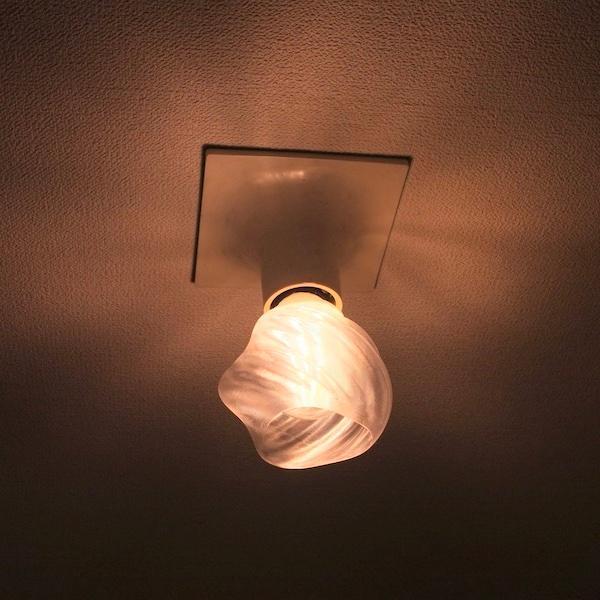 透明な LED電球カバー シェードのみ 捻り模様の傘 直径10cm 裸電球にかぶせる おしゃれな照明カバー きらめくランプシェード|dasyn|05