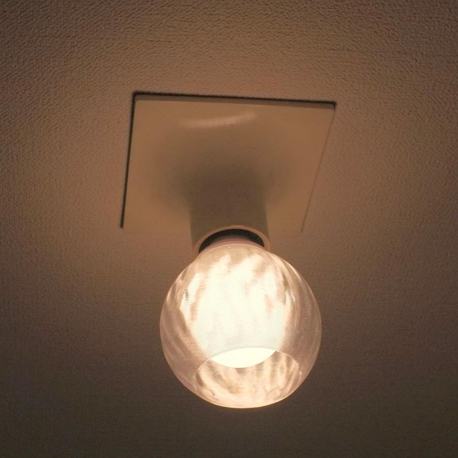 透明な LED電球カバー シェードのみ 横波模様の傘 直径10cm 裸電球にかぶせる おしゃれな照明カバー きらめくランプシェード dasyn 04