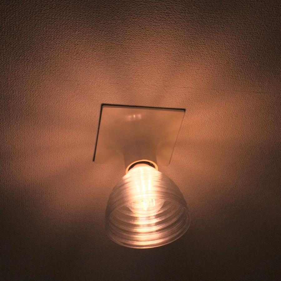 透明な LED電球カバー シェードのみ 同心円模様の傘 直径 10cm 裸電球にかぶせる おしゃれな照明カバー きらめくランプシェード dasyn 06