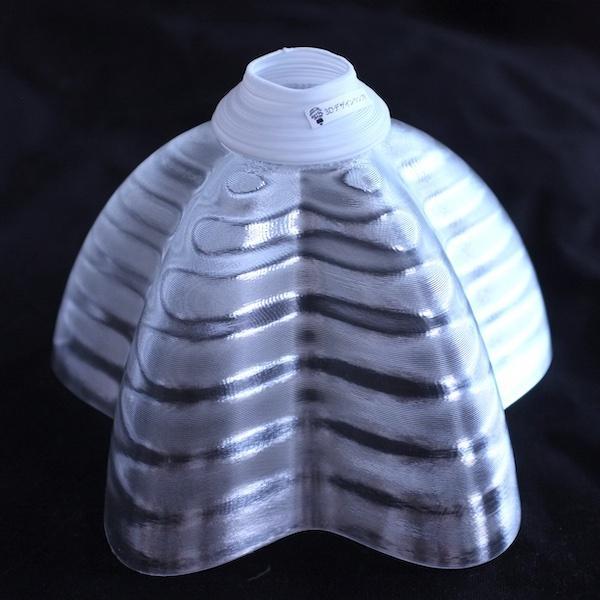 透明な LED電球カバー シェードのみ 桜形 星形の傘 直径17cm 裸電球にかぶせる おしゃれな照明カバー きらめくランプシェード dasyn 02