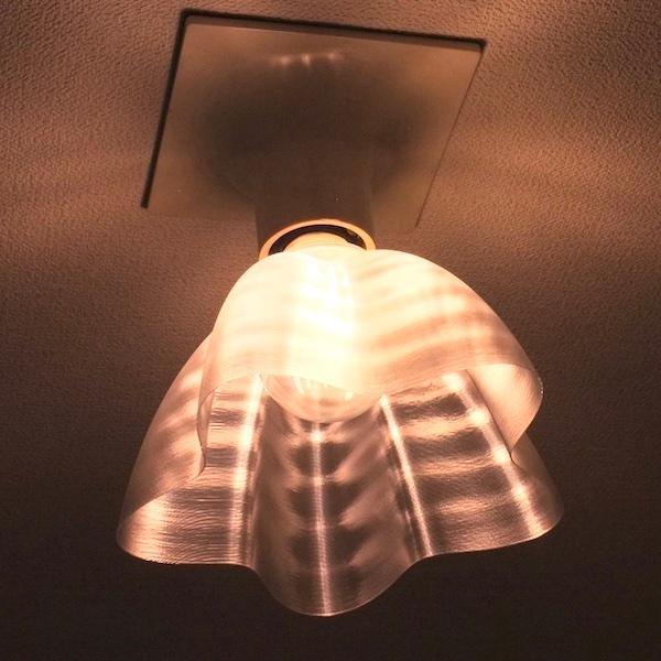 透明な LED電球カバー シェードのみ 桜形 星形の傘 直径17cm 裸電球にかぶせる おしゃれな照明カバー きらめくランプシェード dasyn 04