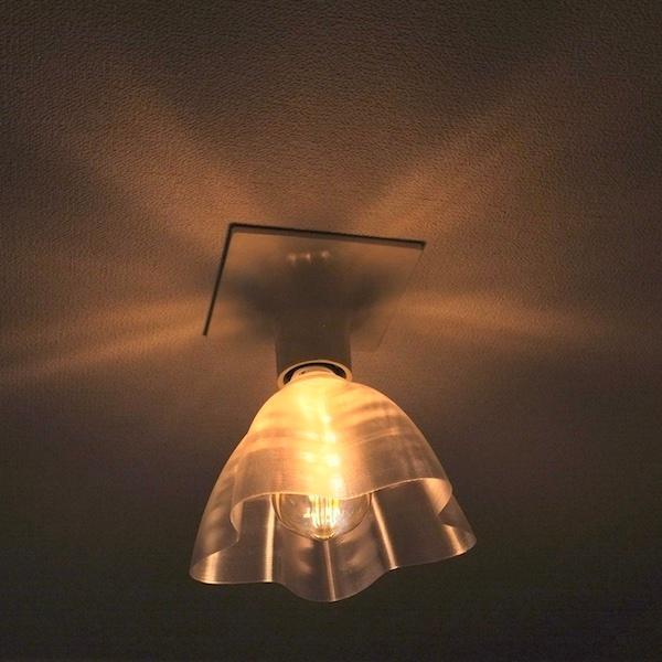 透明な LED電球カバー シェードのみ 桜形 星形の傘 直径17cm 裸電球にかぶせる おしゃれな照明カバー きらめくランプシェード dasyn 08